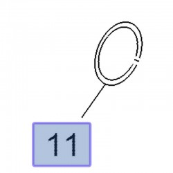 Uszczelka katalizatora 55580193 (Astra J, K, Insignia A, B, Meriva B, Mokka, Zafira C)