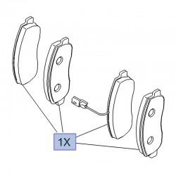 Klocki hamulcowe przednie 95599843 (Movano B)