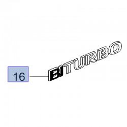 Napis BITURBO na tył 13296456 (Astra J, K, Insignia A, Movano B, Zafira C)