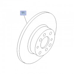 Tarcza hamulcowa przednia 305mm 95515332 (Combo D)
