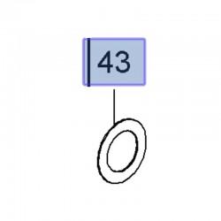 Podkładka oporowa mechanizmu różnicowego 96852978 (Astra J, Zafira C)