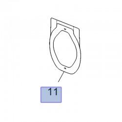 Deflektor wody przednich drzwi 13356687 (Astra J, K, Crossland X, Insignia A, Meriva B, Zafira C)