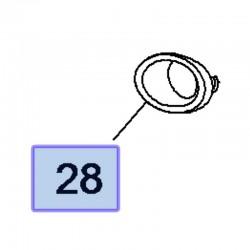 Chrom kratki halogenu, lewy 95021815 (Mokka)