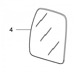 Szkło lusterka wstecznego drzwi lewych 93197494 (Movano B)
