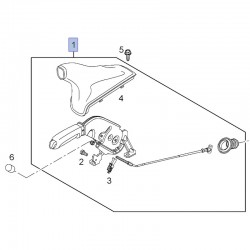 Dźwignia hamulca ręcznego 39053551 (Corsa D)