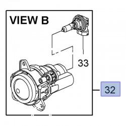 Halogen, światło przeciwmgielne przednie prawe 13367141 (Astra J, Cascada)