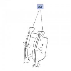 Klocki hamulcowe przednie 1623162380 (Combo E)