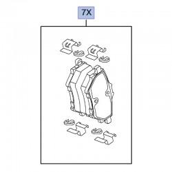 Klocki hamulcowe tylne 95525378 (Combo E)
