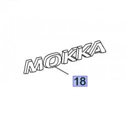 Napis MOKKA na tylną klapę 95220704 (Mokka)