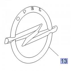 Emblemat, znak OPEL na tylną klapę 39100745 (Crossland X)