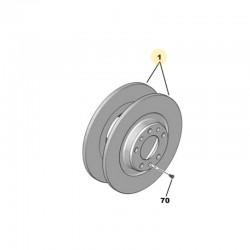 Tarcze hamulcowe tylne komplet 1609583080 (Grandland X)