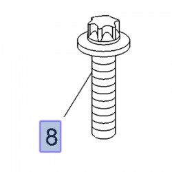 Śruba TORX M12 x 50 11099192 (Adam, Astra G, H, J, Corsa C, D, E, Insignia A, Meriva A, B, Signum, Vectra C, Zafira B, C)