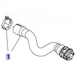 Wąż, przewód górny chłodnicy 1.6 3637012 (Crossland X)