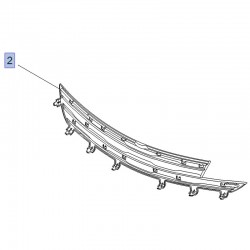 Maskownica, osłona atrapy 39199818 (Crossland X)