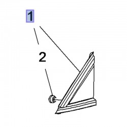 Wypraska słupka przedniego, lewa 13482337 (Crossland X)