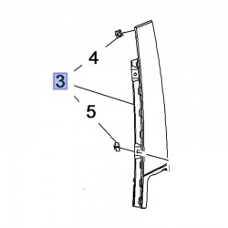 Listwa drzwi przednich, lewa 39123010 (Crossland X)