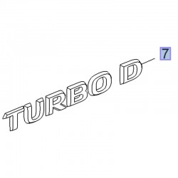 Napis tylny TURBO D 39083844 (Crossland X)