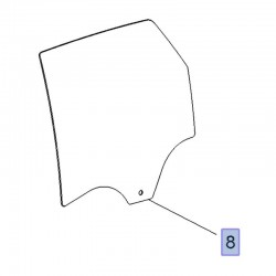 Szyba drzwi tylnych, lewa 13457752 (Crossland X)
