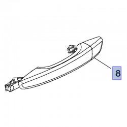 Klamka tylnych drzwi, prawa 980297821T (Combo E, Crossland X)