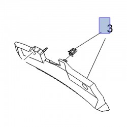 Wspornik kurtyny AIRBAG, prawy 39149960 (Crossland X)