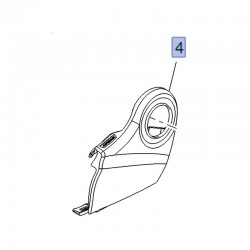 Pokrywa mechanizmu regulatora fotela przód 13473677 (Crossland X)