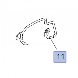 Ustalacz osłony fotela przedniego, lewy 13472700 (Astra K, Crossland X, Insignia B)