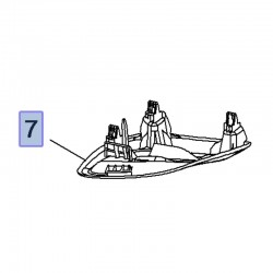 Osłona dachowa tylnego pasa bezpieczeństwa 39125920 (Crossland X)
