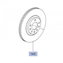 Tarcze hamulcowe przednie - komplet 95526651 (Adam, Astra G, H, Corsa D, E, Zafira A, B, inne)