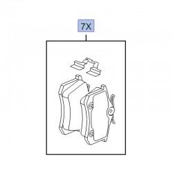 Klocki hamulcowe tył 1617190980 (Crossland X)