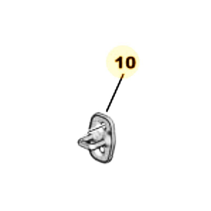 Zaczep zamka drzwi przednich 916489 (Corsa F)