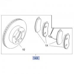 Zestaw hamulcowy przedni klocki+tarcze 95526066 (Movano B)
