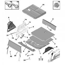 Wygłuszenie wnęki tylnego koła, prawe 9833393480 (Grandland X)