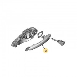 Klamka zewnętrzna drzwi przednich, lewa 1609240280 (Grandland X)