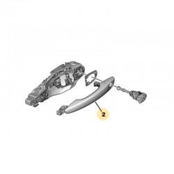 Klamka zewnętrzna drzwi przednich, prawa 1609239680 (Grandland X)