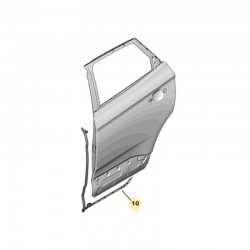 Uszczelka drzwi tylnych, prawa 9814992080 (Grandland X)