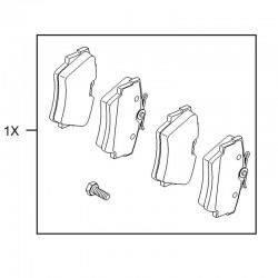 Klocki hamulcowe tylne 95528432 (Vivaro A, B)
